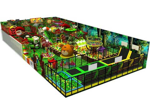 Forest Theme Indoor Playground Equipment for Sale In Philippines