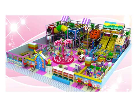 Pink Indoor Playground Equipment for Malaysia