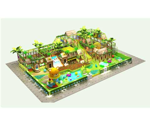 Small Forest Themed Indoor Playground Equipment for Sale