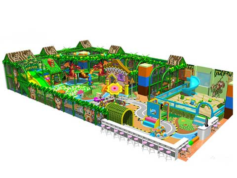 Large Forest Theme Indoor Playground Equipment