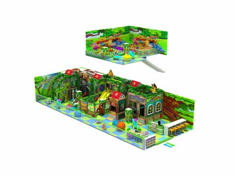 Kiddie Green Commercial Indoor Playground Equipment for Sale