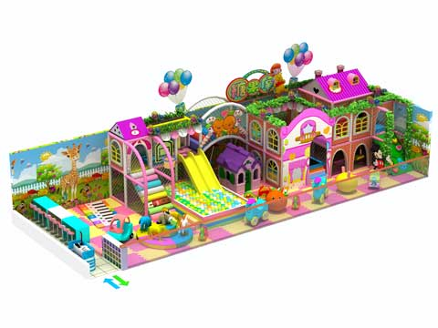102 Square Meter Candy Theme Kids Indoor Playground Equipment