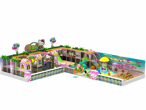 215 Square Meters Large Indoor Playground Equipment for Sale
