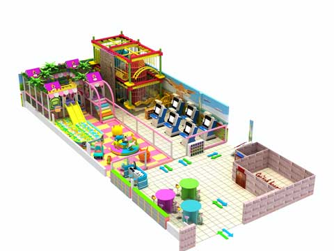 274 Square Meters Large Indoor Playground Equipment