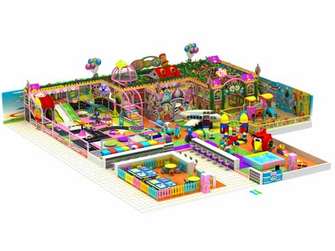 530 Square Meter Large Size Indoor Playground Equipment