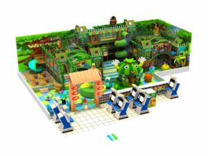 162 Square Meter Green Theme Naughty Castle for Sale