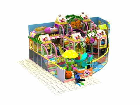77 Square Meters Kiddie Residential Indoor Playground Equipment for Funfair