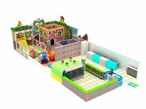 120 Square Meter Large Residential Indoor Playground Equipment