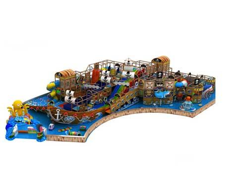 Pirate Ship Theme Kiddie Indoor Playground Equipment