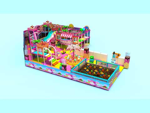 Kiddie Candy Theme Playland Equipment