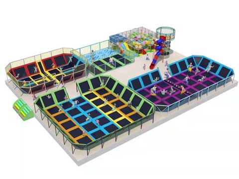 Large 1000 Square Meter Trampoline Park Business for Sale