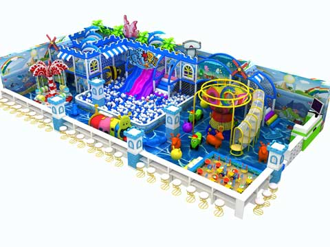 160 Square Meters Ocean Indoor Playground Equipment
