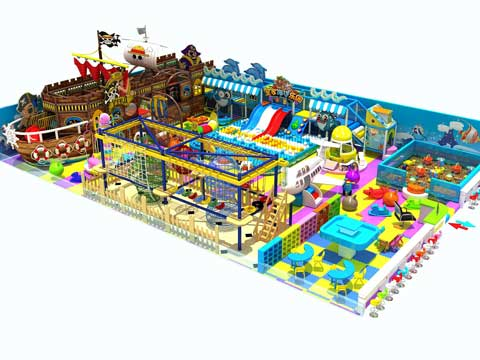 Pirate Ship Indoor Playground Equipment With 350 Square Meter