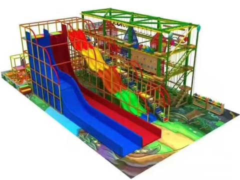 Kids Indoor Playground Equipment With 400 Square Meters