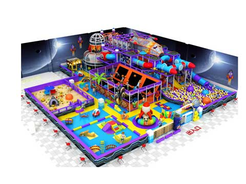 Space Themed Indoor Playground Equipment With 400 Square Meters