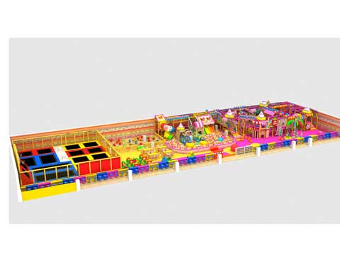 Candy Theme Indoor Playground Equipment With 500 Square Meters