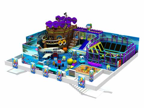 300 Square Meter Pirate Ship Indoor Playground Equipment