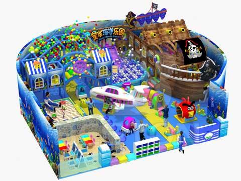 Kids Ocean Themed Indoor Playground Equipment